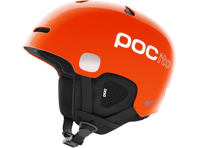 POC POCito Auric Cut Spin Casco Niños, fluorescent orange